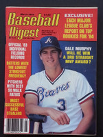 1984 Baseball Digest March Dale Murphy Excellent - No Mailing Label