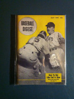 1949 Baseball Digest May Play at the Plate (Great Ted Williams photo on reverse) Excellent to Mint