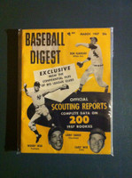 1957 Baseball Digest March Scouting Reports Very Good to Excellent