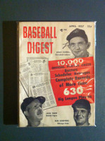 1957 Baseball Digest April Farrell - Scheffing - Tighe Very Good to Excellent