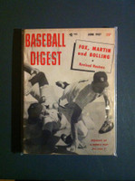 1957 Baseball Digest June Breaking Up the Double Play Excellent