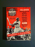 1959 Baseball Digest April Ernie Banks (First Cover) Very Good to Excellent