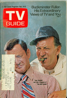 1971 TV Guide February 6 Odd Couple - Tony Randall and Jack Klugman (First Cover) Minnesota State edition Good to Very Good  [Tape and wear along binding; contents fine]