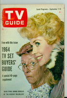 1963 TV Guide Sep 7 The Beverly Hillbillies Arkansas edition Very Good to Excellent - No Mailing Label  [Wear and creasing on cover; contents fine]