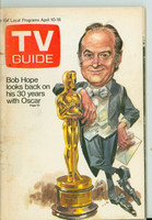 1971 TV Guide April 10 Bob Hope Hosts the Oscars Central Indiana edition Very Good - No Mailing Label  [Loose at staples, wear on cover; contents fine]