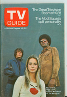 1971 TV Guide July 3 Cast of the Mod Squad St. Louis edition Excellent - No Mailing Label  [Wear and creasing on cover, contents fine]
