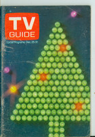 1971 TV Guide December 25 Christmas Western New England edition Very Good to Excellent - No Mailing Label  [Scuffing and wear on cover; contents fine]