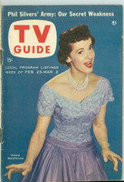 1956 TV Guide Feb 25 Giselle MacKenzie New England edition Very Good to Excellent - No Mailing Label  [Lt wear on cover, staple rust; contents fine]