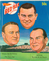 1956 Red Sox Yearbook Very Good Creasing on cover; contents fine
