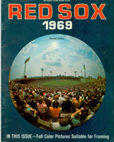 1969 Red Sox Yearbook Revised Very Good to Excellent Light vertical crease on cover, contents fine