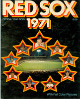 1971 Red Sox Yearbook Very Good to Excellent Heavy creasing on cover, inside pages clean