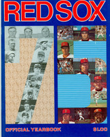 1975 Red Sox Yearbook AL Pennant Winners Excellent to Mint One small bruise on cover, ow very clean