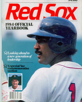 1984 Red Sox Yearbook Excellent Corner ding on first few pages, ow very clean