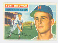 1956 Topps Baseball 34 Tom Brewer Boston Red Sox Excellent to Excellent Plus White Back