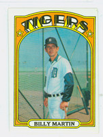 1972 Topps Baseball 33 Billy Martin Detroit Tigers Excellent to Mint