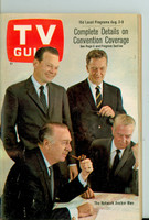 1968 TV Guide Aug 3 TV Anchormen Southern Ohio edition Near-Mint - No Mailing Label  [Very light wear, ow very clean example]