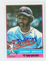 Johnny Briggs AUTOGRAPH 1976 Topps #373 Twins   [SKU:BrigJ1632_T76BBLE]