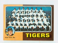 1975 Topps Mini Baseball 18 Tigers Team Excellent