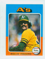 1975 Topps Mini Baseball 21 Rollie Fingers Oakland Athletics Excellent to Mint