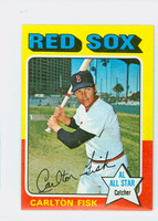 1975 Topps Mini Baseball 80 Carlton Fisk Boston Red Sox Excellent to Mint