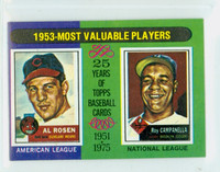 1975 Topps Mini Baseball 191 1953 MVP Excellent to Mint