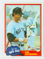 1981 Topps Baseball 110 Carl Yastrzemski Boston Red Sox Near-Mint to Mint