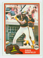 1981 Topps Baseball 370 Dave Winfield San Diego Padres Near-Mint to Mint