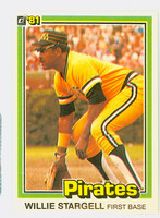 1981 Donruss Baseball 12 Willie Stargell Pittsburgh Pirates Near-Mint to Mint