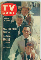 1960 TV Guide Jun 25 Bonanza (First Cover) Iowa edition Fair to Good - No Mailing Label  [Wear on cover and binding, top corner torn away, contents intact]