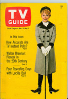 1968 TV Guide Mar 30 Lucille Ball Central Indiana edition Very Good to Excellent - No Mailing Label  [Small tape on binding and cover, lt toning on cover, contents fine]