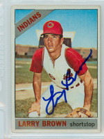 Larry Brown AUTOGRAPH 1966 Topps #16 Indians   [SKU:BrowL6399_T66BBLB]