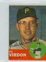 Bill Virdon AUTOGRAPH 1963 Topps #55 Pirates 