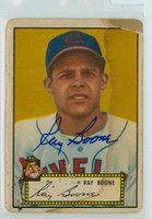 Ray Boone AUTOGRAPH d.04 1952 Topps #55 Indians  CARD IS POOR  [SKU:BoonR279_T52BBR1jl]