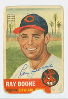 Ray Boone AUTOGRAPH d.04 1953 Topps #25 Indians CARD IS POOR  [SKU:BoonR279_T53BB]