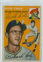 Dick Cole AUTOGRAPH 1954 Topps #84 Pirates    [SKU:ColeD348_T54BBR1jl]