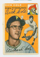 Dick Cole AUTOGRAPH 1954 Topps #84 Pirates   [SKU:ColeD348_T54BBjl]