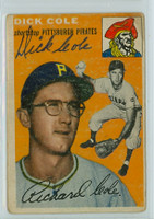 Dick Cole AUTOGRAPH 1954 Topps #84 Pirates    [SKU:ColeD348_T54BBR2jl]