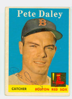 Pete Daley AUTOGRAPH 1958 Topps #73 Red Sox 