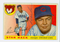 Stan Hack AUTOGRAPH d.79 1955 Topps #6 Cubs 