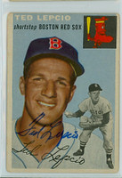 Ted Lepcio AUTOGRAPH 1954 Topps TOUGH SERIES #66 Red Sox    [SKU:LepcT264_T54BBR1jl]