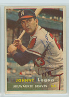Johnny Logan AUTOGRAPH d.13 1957 Topps #4 Braves  