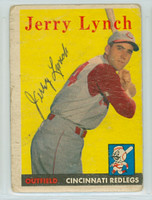 Jerry Lynch AUTOGRAPH d.12 1958 Topps #103 Reds  CARD IS POOR