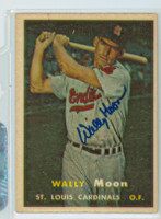 Wally Moon AUTOGRAPH 1957 Topps #65 Cardinals  