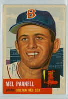 Mel Parnell AUTOGRAPH d.12 1953 Topps #19 Red Sox INSCR; VERY CLEAN Ex++  [SKU:ParnM1906_T53BBVjl]