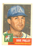 Dave Philley AUTOGRAPH d.12 1953 Topps #64 Athletics CARD IS F/P  [SKU:PhilD163_T53BBjl]