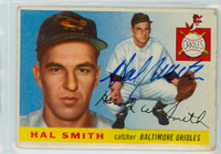 Hal W. Smith AUTOGRAPH 1955 Topps #8 Orioles  