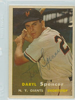 Daryl Spencer AUTOGRAPH 1957 Topps #49 Giants    [SKU:SpenD2931_T57BB2pl]