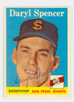 Daryl Spencer AUTOGRAPH 1958 Topps #68 Giants 