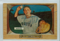 Sammy White AUTOGRAPH d.91 1955 Bowman #47 Red Sox CARD IS POOR  [SKU:WhitS1194_BW55BBjl]