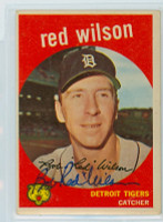 Red Wilson AUTOGRAPH d.14 1959 Topps #24 Tigers  CARD IS F/G; CREASES  [SKU:WilsR5618_T59BBLB]